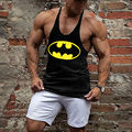 Мужская жилет Бэтмен бодибилдинг одежда и фитнес мужчины майку топы мужчины майка XXL 19