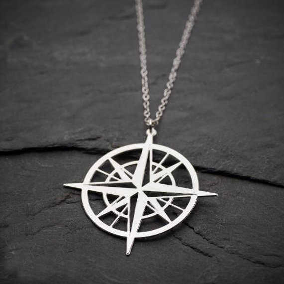 2018 Unique Compass Charm Necklace Women Stainless Steel Jewelry Best Gift For Friend Accept Drop Shipping YP6432