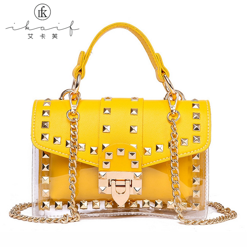 Messenger-Bags Transparent-Bag Small Totes Jelly Clear Crossbody Female Women Luxury Brand