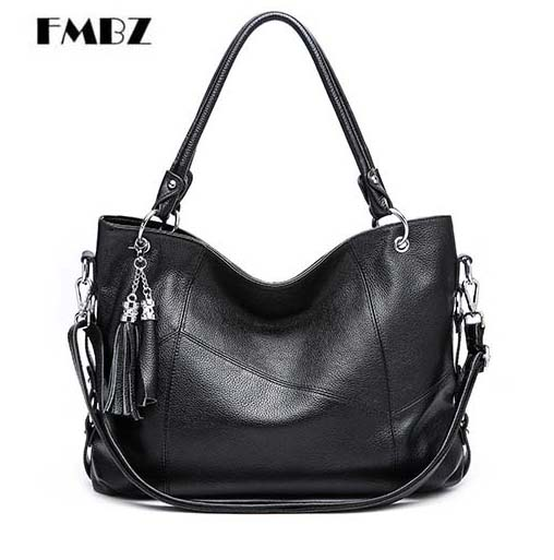 2018 new genuine leather middle-aged Woman Bag Simple ladies Handbag The first layer of Leather Lychee Mother Leather Big Bag 100% genuine leather make cow leather handbag shoulder bag shell bag middle aged women suitable for life shopping the best gift