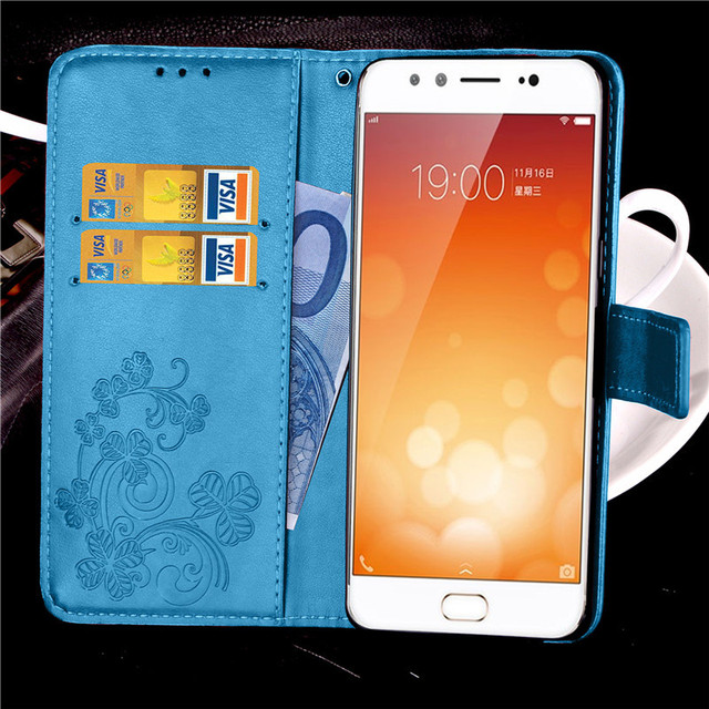 For BBK Vivo X9 Case Leather Wallet Flip Case For Vivo X9 Card Holder Shockproof Silicone Stand Phone Cover Coque Bag Fundas