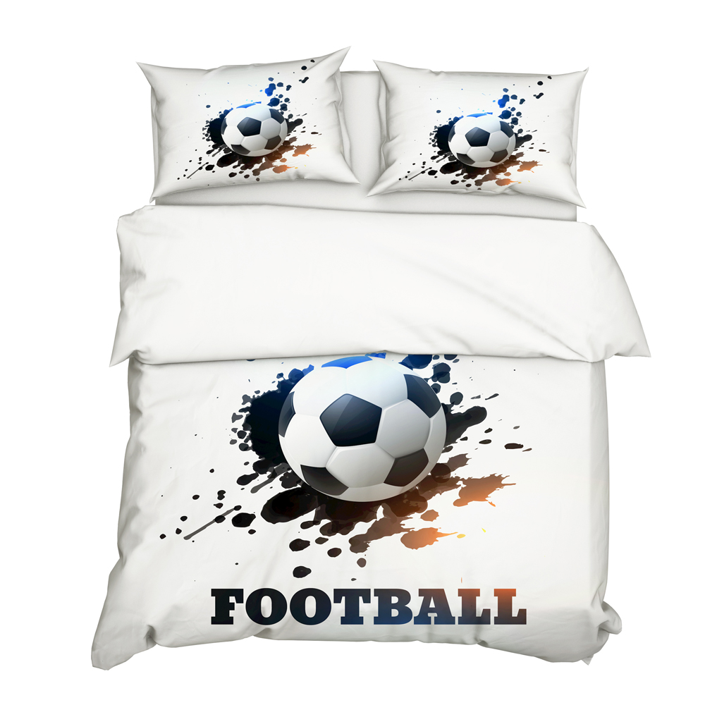 DropShipping 3D Football Bedding Set Print Duvet Cover Set Bedclothes With Pillowcase Bed Set Boy Gife N0010 Queen Single Size