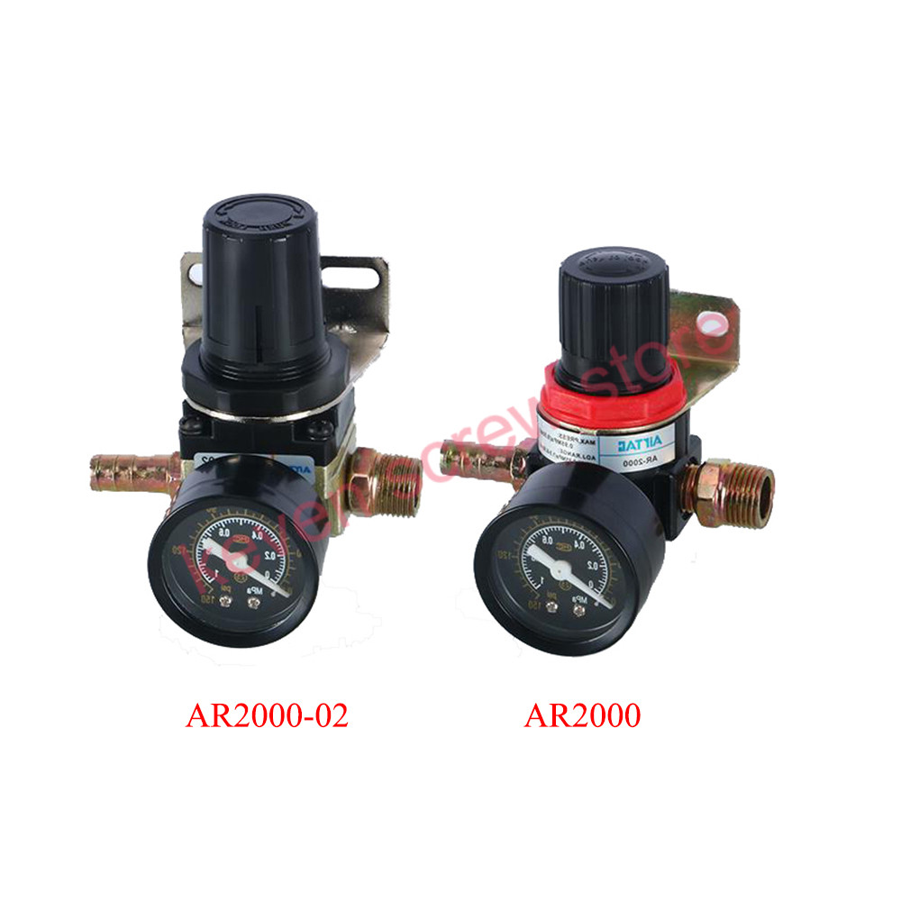 Pneumatic Air Pressure Regulator AR2000/AR2000-02 Thread PT 1/4(12MM)/3/8(16MM) inch oil-water separator pressure reducing valve sns regulator pressure reducer valve pneumatic components ar2000 airtac type