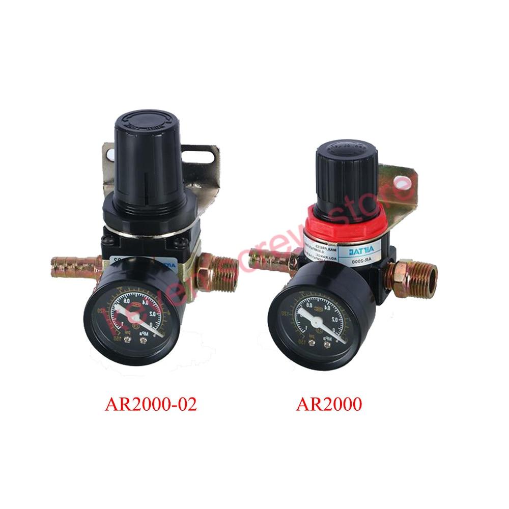 Pneumatic Air Pressure Regulator AR2000/AR2000-02 Thread PT 1/4(12MM)/3/8(16MM) inch oil-water separator pressure reducing valve цена
