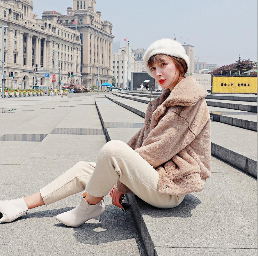 Blanc De kaki Imitation vert rose En 8 Manteau gris Peluche Épais Qualité Haute bleu Mode Femme Royal Lapin champagne Style Faux Court Angleterre camel Chaud Fourrure Couleur Fausse S0qfHn