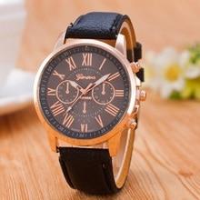 Luxury Brand Leather Quartz Watch Women Ladies Men Fashion B