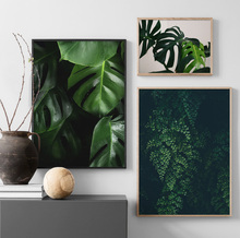 Wall Art Canvas Painting Green Tropical Plants Leaves Nordic Posters And Prints Plant Pictures For Living Room Bed