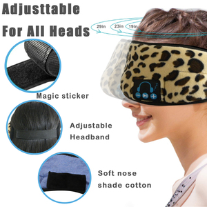 Image 3 - JINSERTA Wireless Bluetooth 5.0 Stereo Earphone Soft Washable Sleeping Eye Mask Headset Music Player with Mic Support Handsfree