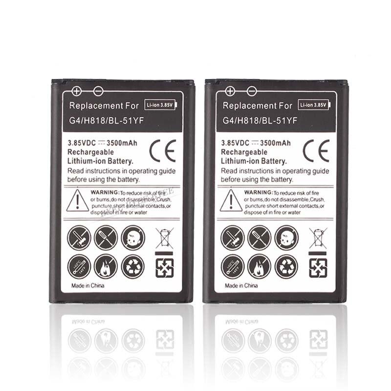 Phone-Battery H818N Replacement For LG G4 H818/H818n/Vs999/.. 3500mah BL-51YF 1pc High-Quality