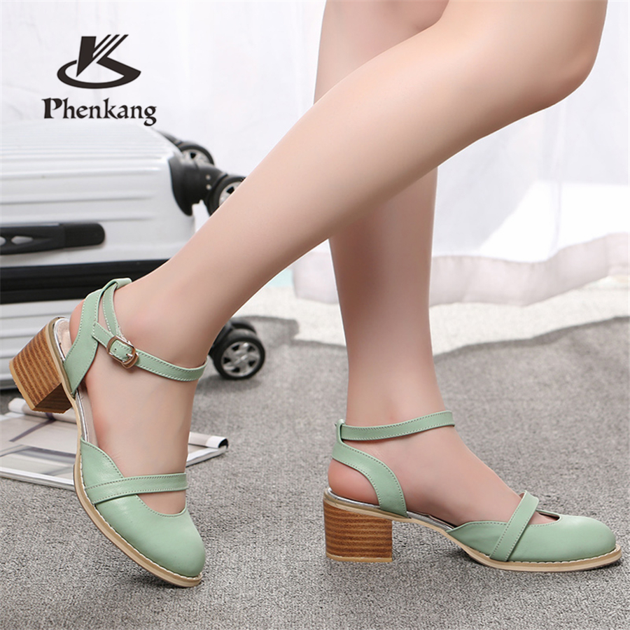 Women sandals oxford shoes vintage genuine leatehr high heels gladiator oxfords summer platform sandals for women