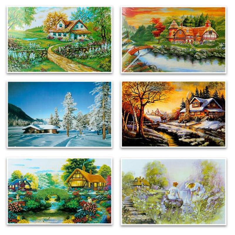 Landscape Puzzle 1000 Pieces Adult Puzzle Kids Jigsaw Landscape Puzzles Educational Toys For Children Puzzles For Kid