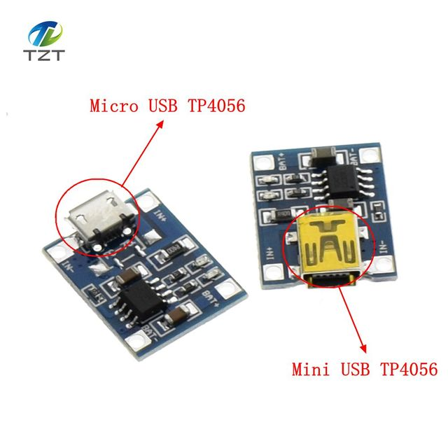 TP4056 1A Lipo Battery Charging Board Charger Module lithium battery DIY MICRO Port Mike USB New Arrival TP4056 MINI USB