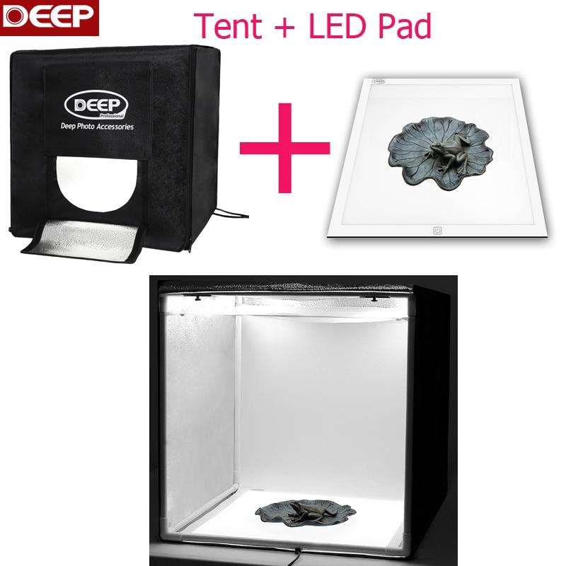 цена на DHL/TNT FREE DEEP 15.7 inch Photo tent led lights 40cm photography light box No shadow LED Light Pad
