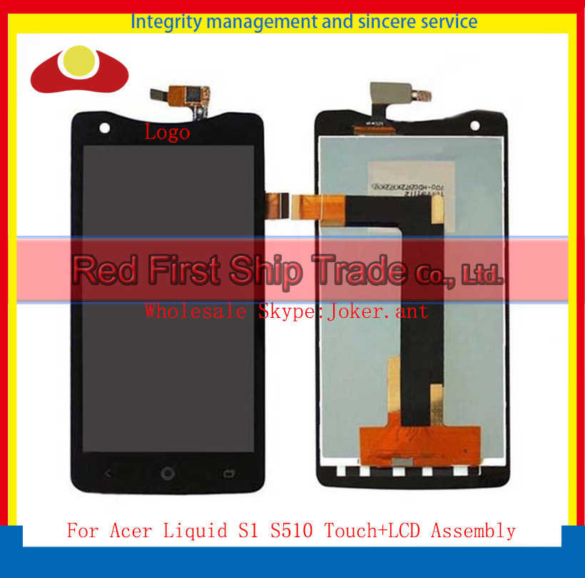 10Pcs/lot High Quality 5.7 For Acer Liquid S1 S510 Lcd Display With Touch Screen Digitizer Assembly Complete Black White