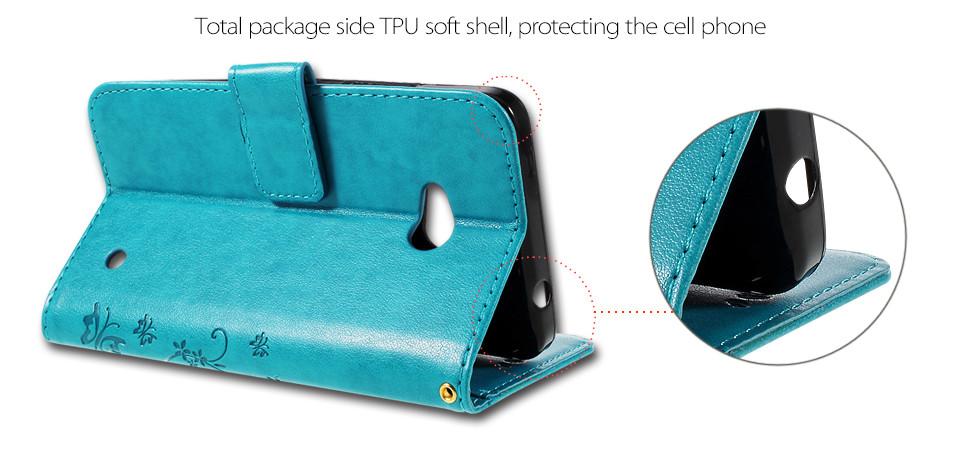 Dla microsoft nokia lumia 640 lumia 630 lumia 550 worek nadrukowane butterfly pu wizytownik skórzany telefon okładka case shell 5