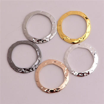 50pcs/lot 16mm No Hole Hollow Circle charms pendants copper DIY Handmade jewelry accessories charms фото