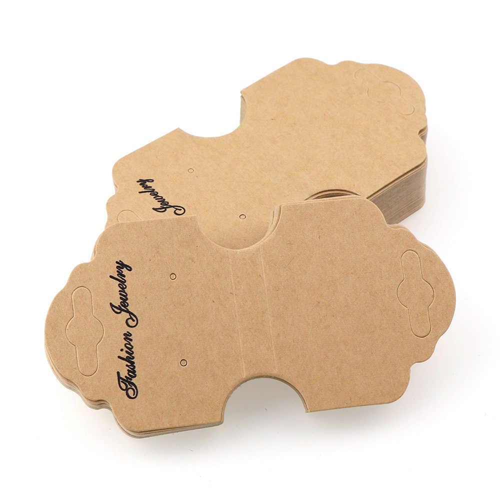9 نمط بطاقة فارغة كرافت ورقة الأذن ترصيع قلادة هانغ علامة المجوهرات عرض القرط صالح بمناسبة الملابس الأسعار تسمية الكلمات بطاقة