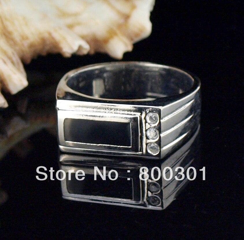30965 кольцо с черным камнем для мужчин