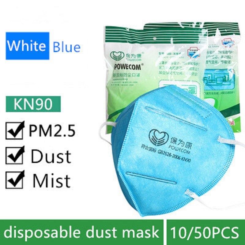 10/50pcs Descartável máscara de Poeira Máscara Anti PM2.5 Industrial Filtro de Partículas de Poeira Folding Camadas Ouvido Cabeça Tipo de Respiração Suave fumaça neblina