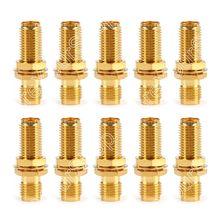 Areyourshop 10x SMA Hembra a SMA Hembra Bulkhead Straight RF Conector del Adaptador Coaxial