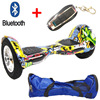 10 Inch 2 Wheel Self Electric Standing Scooter Unicycle Skateboard Hoverboard Bluetooth Remote Bag Hover Bord