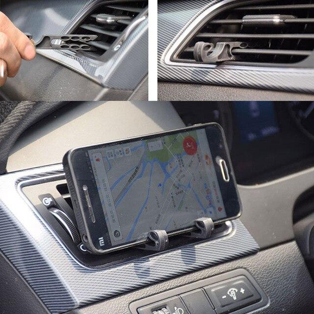 2 piezas nuevo multifunción de aire acondicionado de coche Clip de gafas gancho de auricular portátil teléfono soporte de almacenamiento Interior