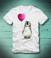 0e2a9caa BOARDRIPPAZ T SHIRT PINGUIN PENGUIN HERZ BALLON HEART BALOON LOVE LIEBE CUTE  FUN Cool Funny T