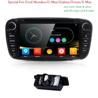 7 дюймов 2 Din автомобильный DVD gps navi плеер автомагнитолы аудио для Ford Focus 2 S C Max Mondeo galaxy 2008 2009 2010 Ipod МЖК BT 3g CD