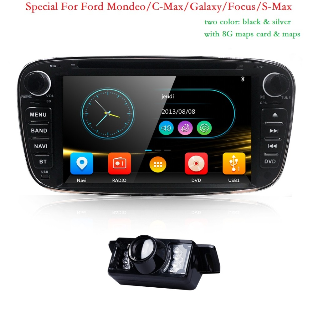 7 inch 2 Din Car DVD GPS Navi Player Auto Radio Audio For Ford Focus 2 S C Max Mondeo Galaxy 2008 2009 2010 Ipod SWC BT 3G CD
