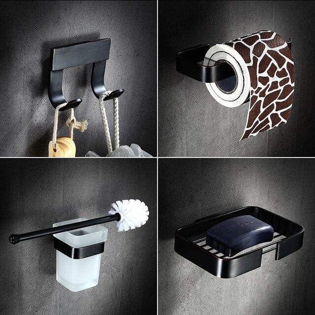 AUSWIND Europeo soild ottone bagno ciondolo olio nero set montaggio a parete Antico bagno set hardware GM01