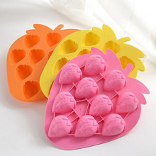1 Pc DIY Pineapple Cake Mold Color Random Fruits Strawberry Shape Novelty Silicone Jello Chocolate Ice Cube Mold Drop Shipping(China)
