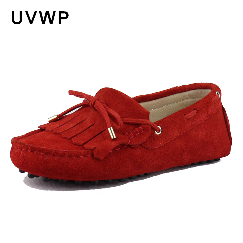 Flats-Shoes Loafers Soft-Moccasins Female Genuine-Leather Woman New Casual Driving Leisure