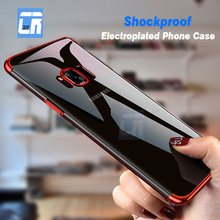 DCR Shockproof Luxury Plating Soft TPU Phone Cases for Samsu