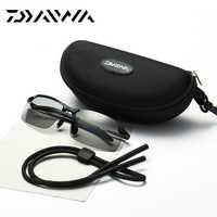 Daiwa marca aleación deportes al aire libre pesca gafas de sol hombres ciclismo escalada HD gafas de sol accesorios de resina objetivo polarizado