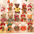 Calidad de exportación de la muñeca del oso de peluche juguetes de peluche suéter ropa venta al por mayor regalo de boda del oso fabricantes de la muchacha regalo del muchacho