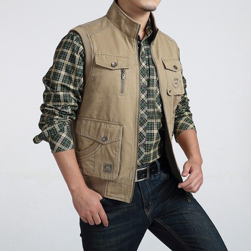 Big Size 6XL Men Reversible Sleeveless Jacket Vest Outdoor Fishing Climbing Camping Photography Double Face Pocket
