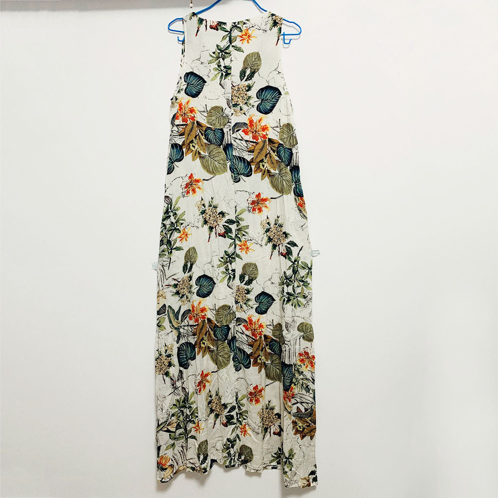 HTB1.e4UUSzqK1RjSZFjq6zlCFXao KLV summerwomen dress dress 2019 's Casual Sleeveless V-neck Flower Print Maxi Tank Long Dress free shipping D4