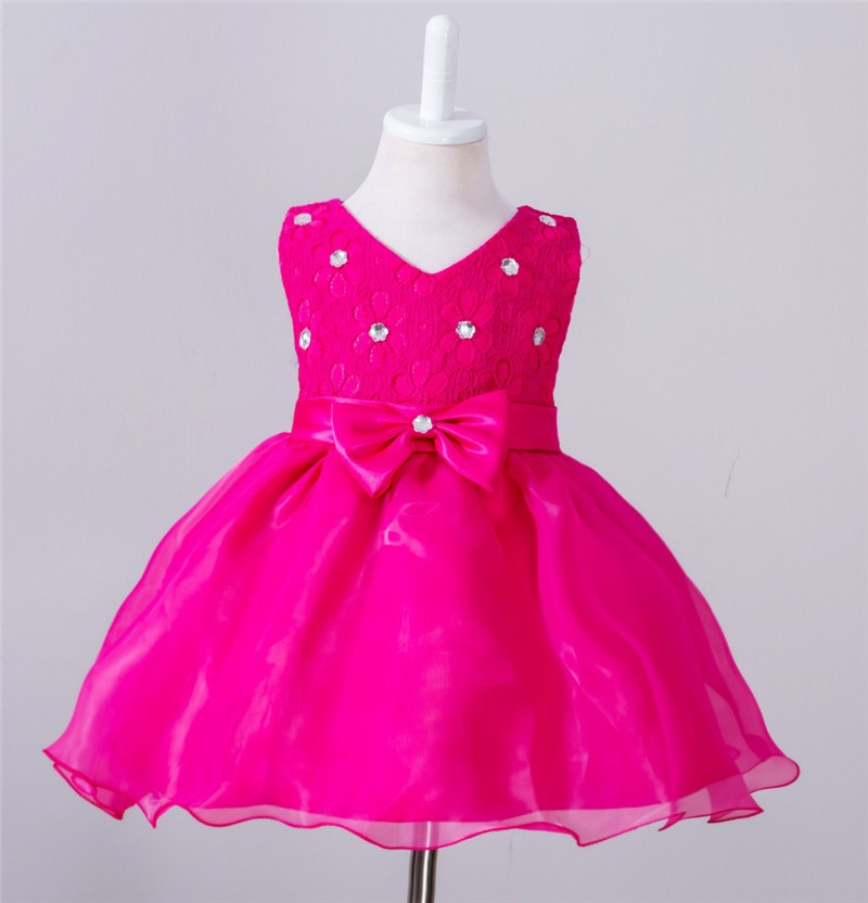 Baby Christening Bow Dress (13)