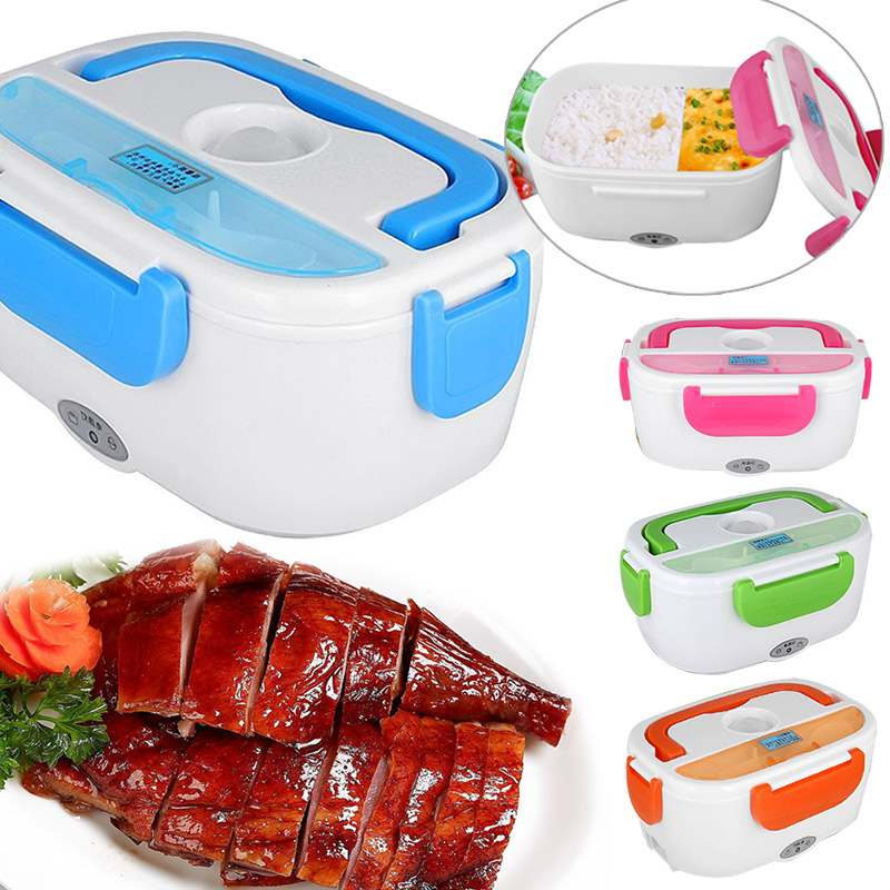 Portable Heated Lunch Box Electric Heating Truck Oven Cooker Office Home Food Warmer J2Y