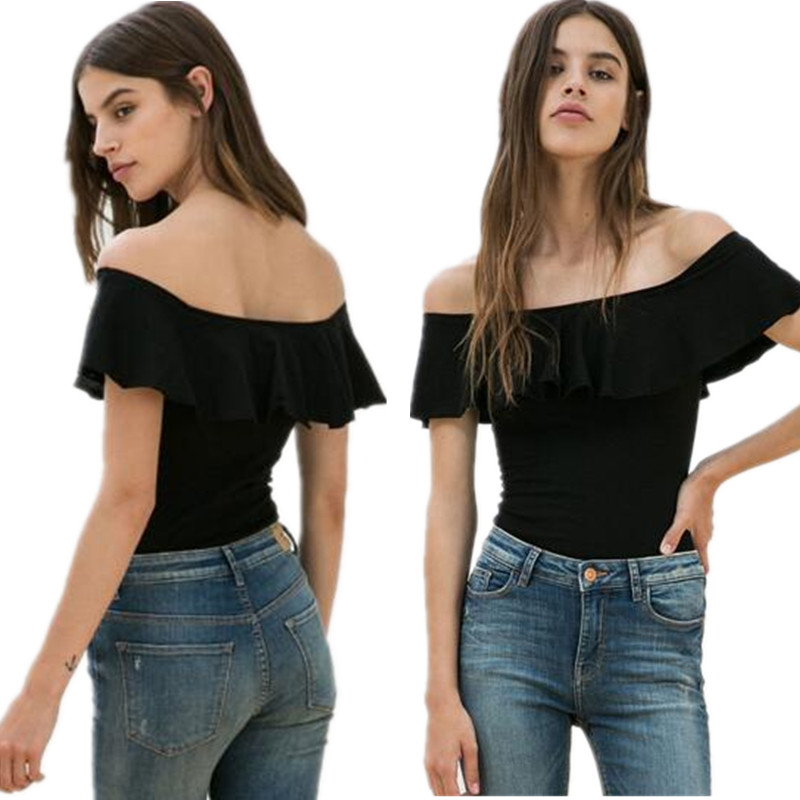 <font><b>Fashion</b></font> T Shirt 2019 Summer <font><b>Sexy</b></font> <font><b>Women</b></font> Slash Neck <font><b>Short</b></font> <font><b>Sleeve</b></font> <font><b>Off</b></font> <font><b>Shoulder</b></font> Casual Solid cotton Tees Blusas <font><b>Tops</b></font> XS-4xl 5xl 6xl image