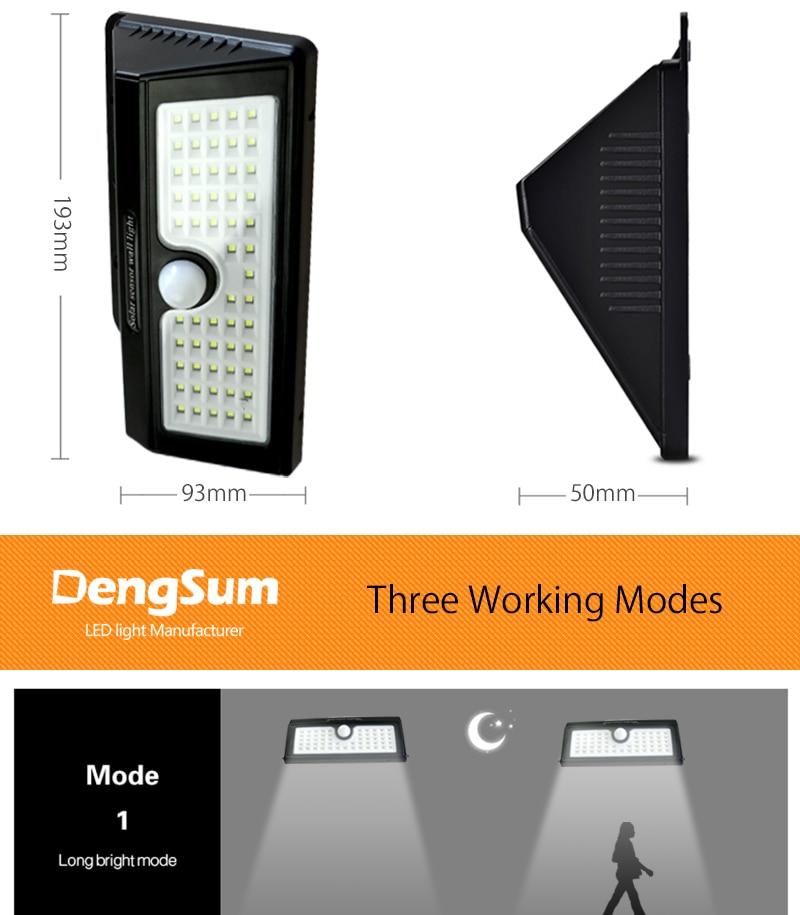 [Dengsum] led solar powered lâmpada de parede