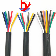 17 AWG 1MM2 RVV 2/3/4/5/6/7/8/10/12/14/16/18 Cores Pins Copper Wire Conductor Electric RVV Cable Black катушка индуктивности jantzen cross coil 12 awg 2 mm 6 2 mh 0 53 ohm