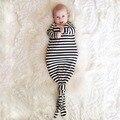 Novo Bebê Sleepsack Crianças Sacos de Dormir 12-24 M algodão Listrado Roupa Do Bebê Do Bebê Saco de Dormir Cobertor Cor Pura Cobertor do algodão