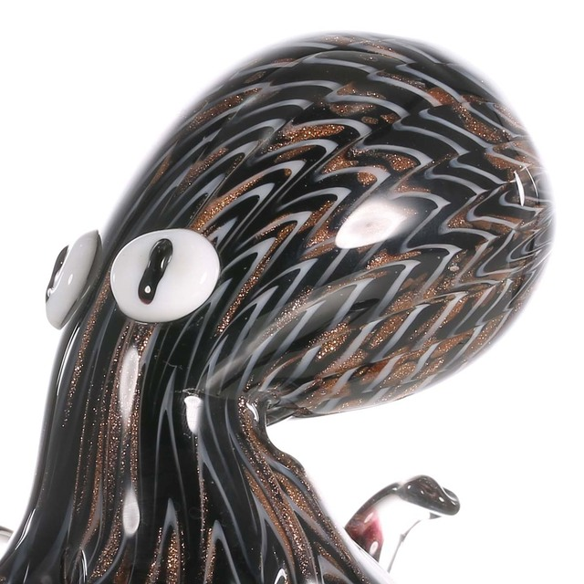 Black Octopus Glass Figurine 2