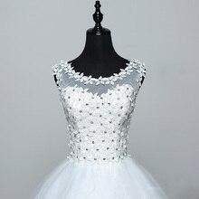 Vestidos De Novia Real Photo Plus Size Princess Brid Lace with Flowers