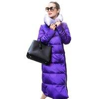 Для женщин пуховик макси пальто толстая зимняя пуховая стеганая куртка, Jaqueta Feminina, парка длинные Украина пиджак пальто C2393