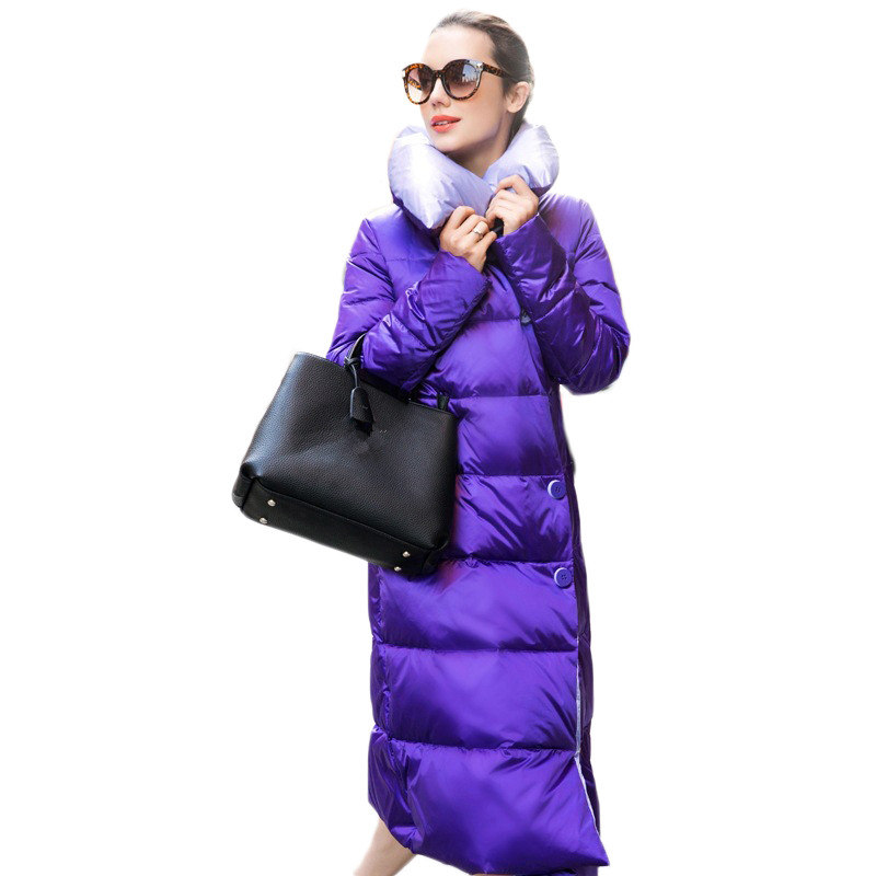 Women's Down Jacket Maxi Coats Thick Winter Down Wadded Jacket Female,Jaqueta Feminina,  Parka   Long Ukraine Jacket Coat C2393