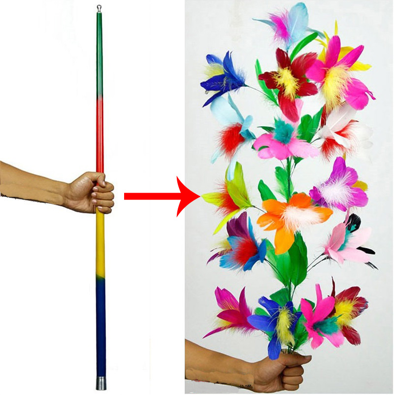 Vanishing Disappearing Cane To Flower Magic Tricks for Professional Magicians Close Up Stage Magic Tricks Magic Props Funny Toys mc photo frame stage magic tricks close up accessories card magic props toys