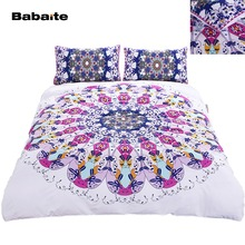 Babaite Mandala Swirl Geometry Bohemia Creative Bedding Set No Fading Soft  Duvet Cover Pillowcases Twin Full