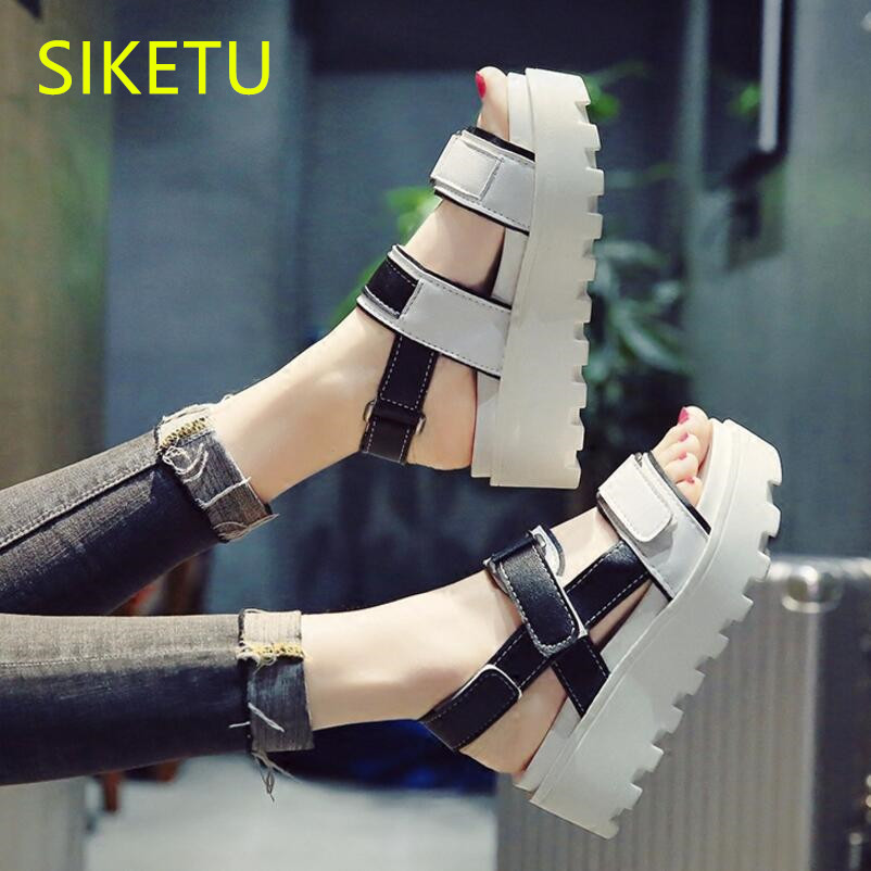 SIKETU Free shipping Summer sandals Fashion casual shoes sex women shoes flip flop Flat shoes Flats l137 NEW flip flop flat women shoes 2018 summer breathable fashion lady s casual shoes lace up girls handmade women woven shoes flip flop footwear 599w